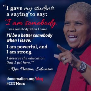 Rita Pierson quote about student empowerment.