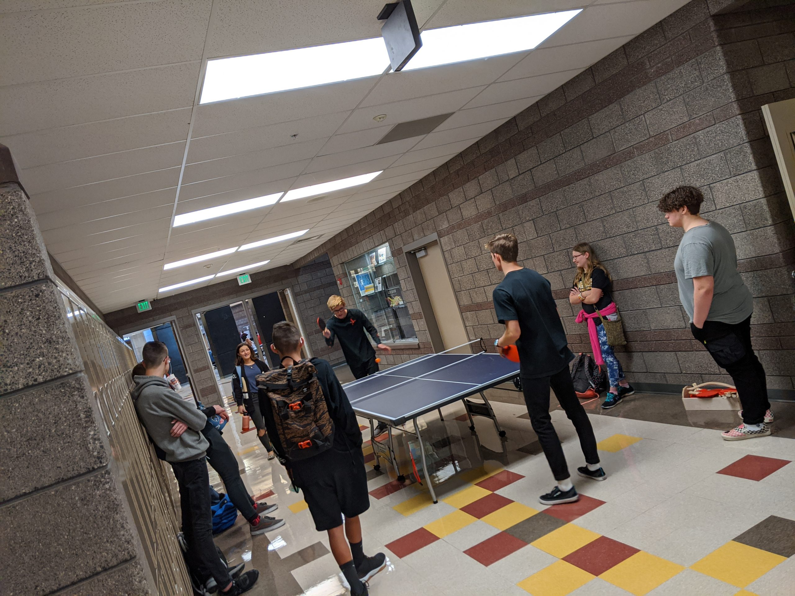 Students At Lunchtime Activities