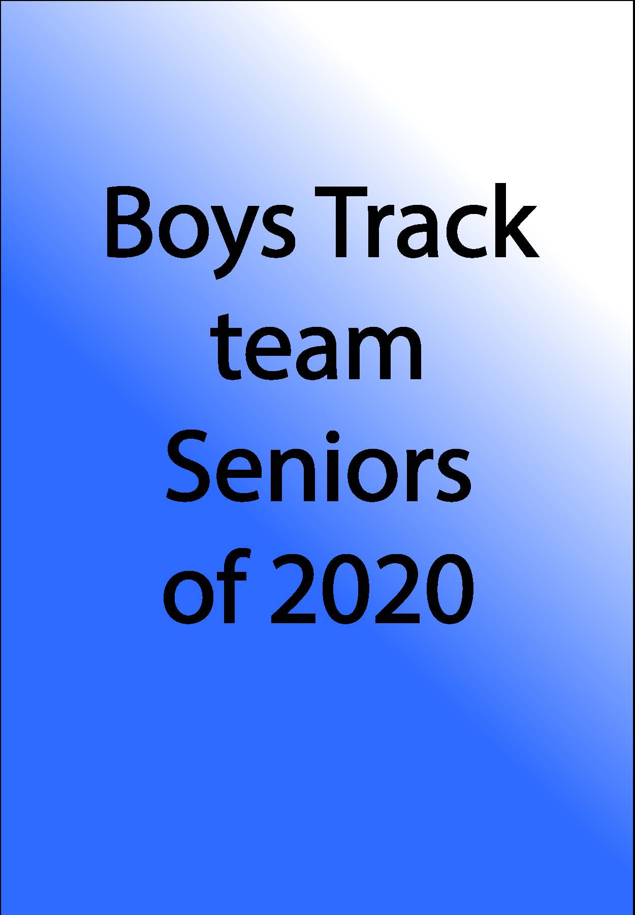 Boy Track Team Logo