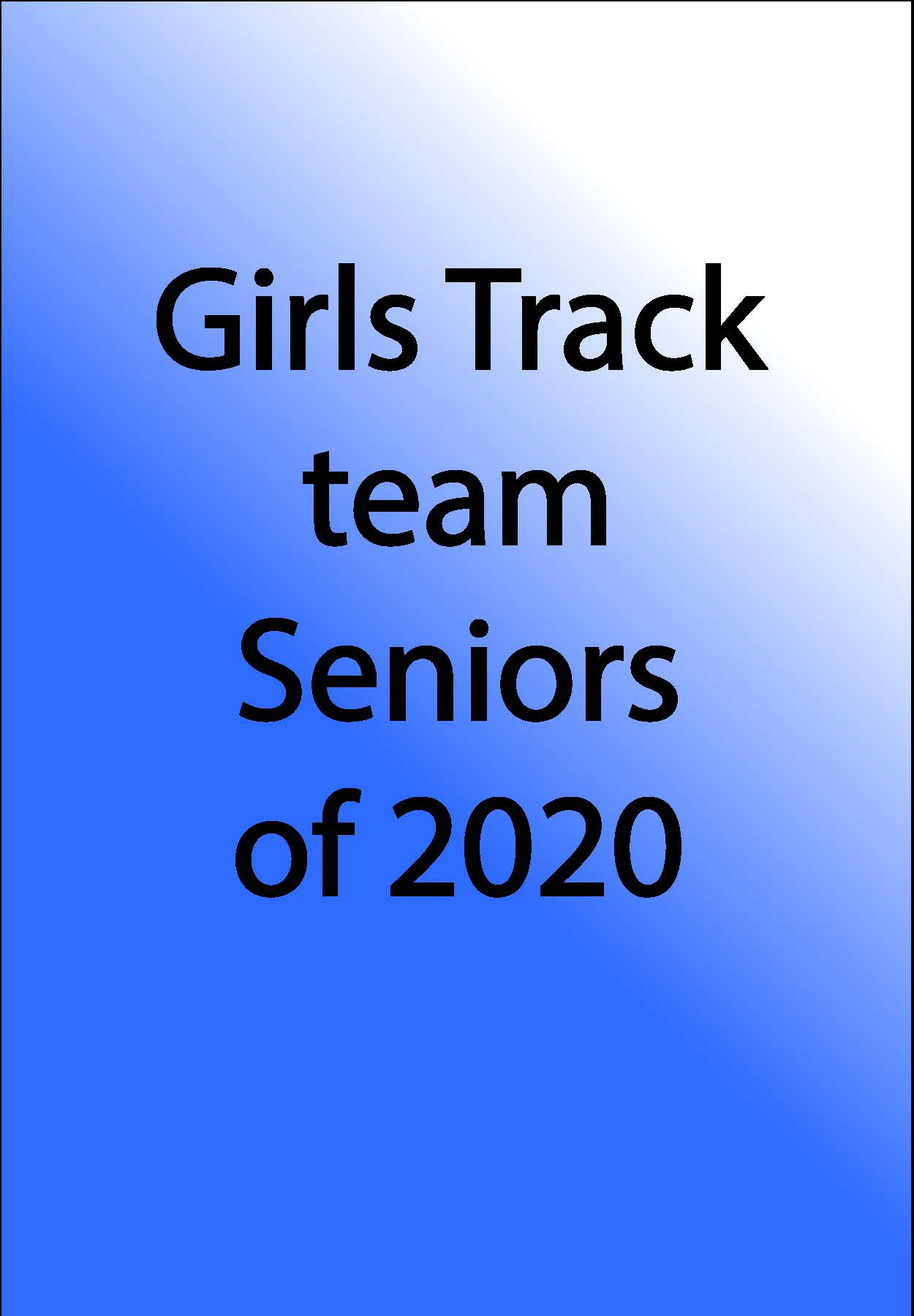 Girls Track Team Logo
