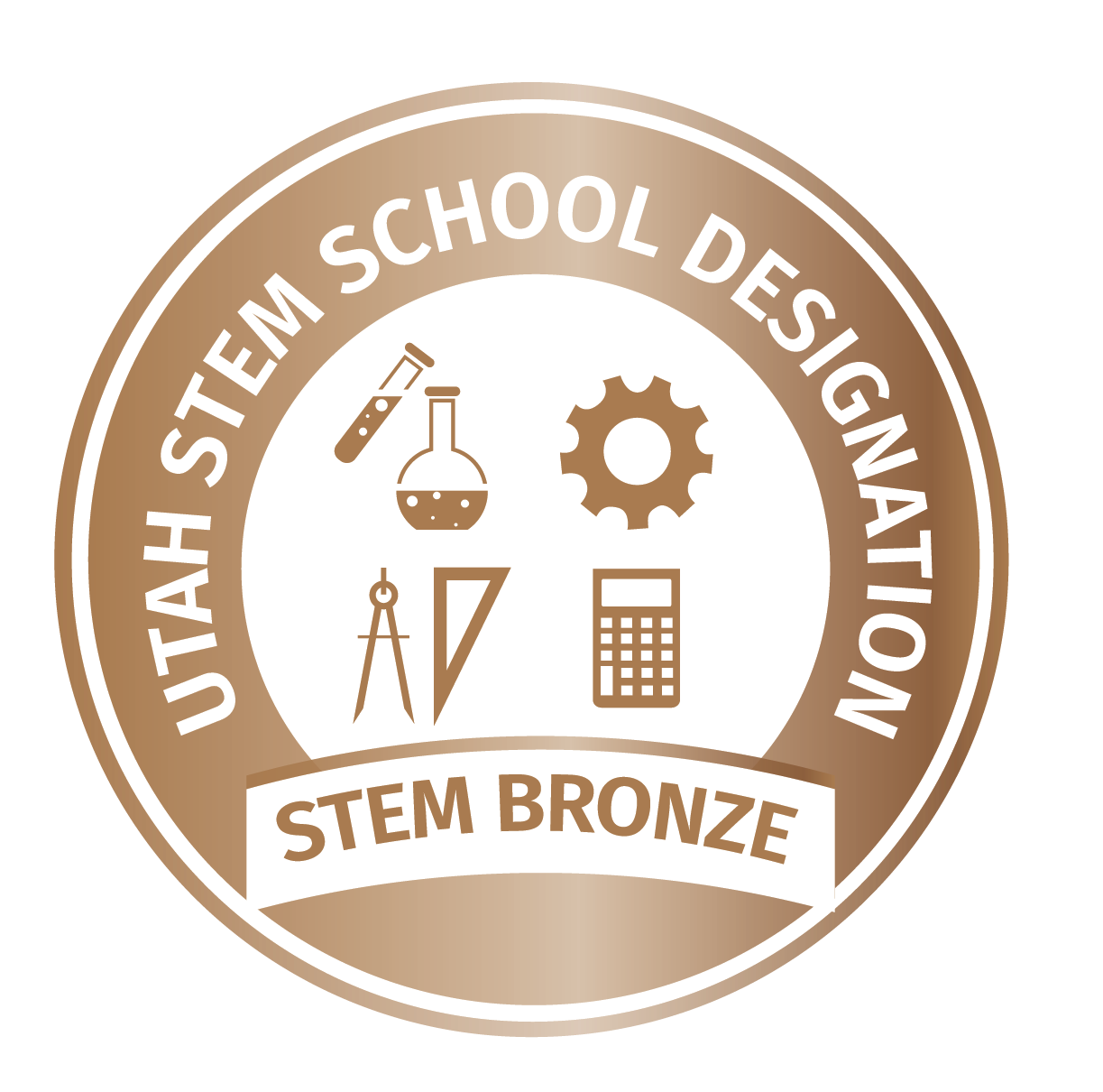 bronze school stem logo