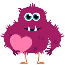 Cute Pink Valentine Monster