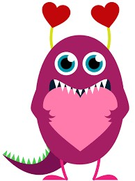 Cute Monster with Heart