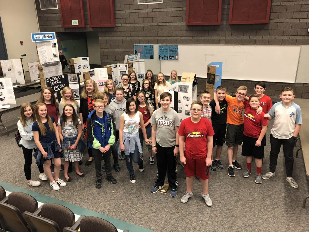 All Hurricane Intermediate Students that participated in the 2018 History Fair.