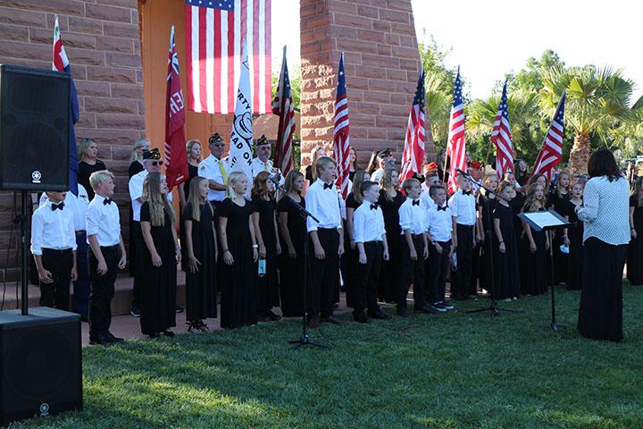 Honors Choir Singing At Town Square