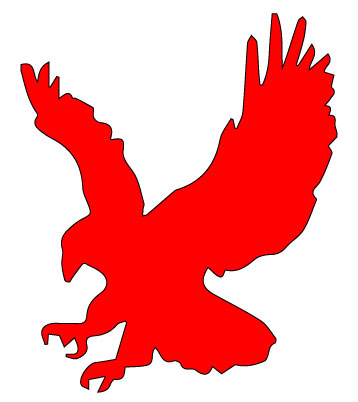 A picture of a red redhawk to be used as a placeholder for faculty with no picture.