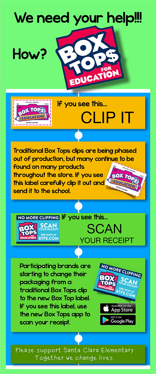 Please scan or clip boxtops for the school.