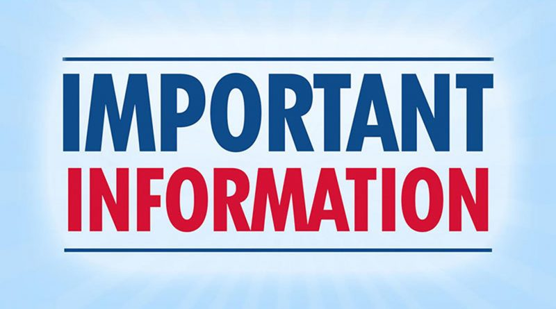 Link to important information for Students and Parents