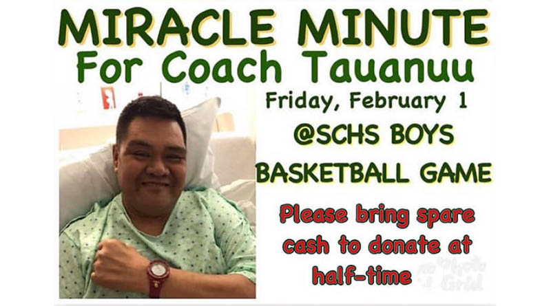 Coach Tauanuu Miracle Minute at tonights game