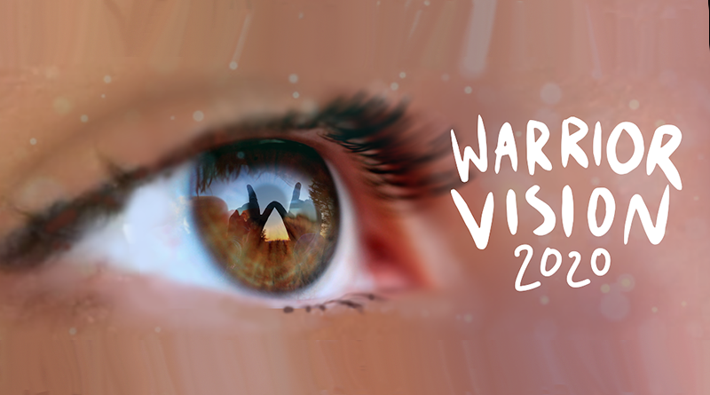 Image of eye with School Theme Warrior Vision
