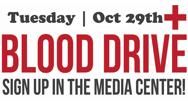 Blood Drive Oct 29th