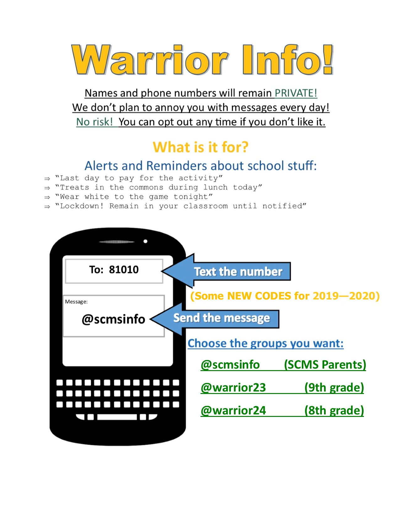 Warrior Text Blast