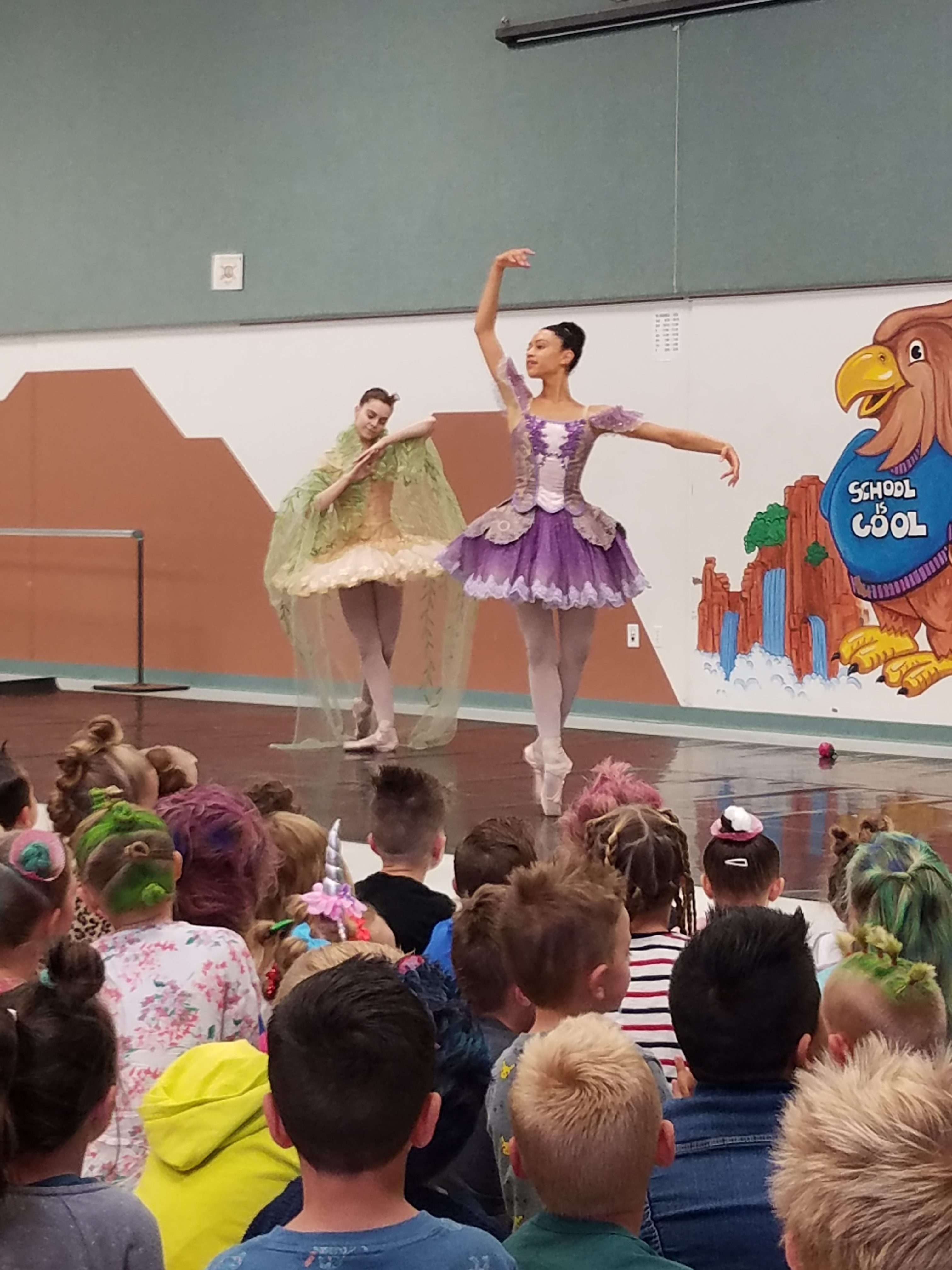 Ballerinas Dance At Assembly