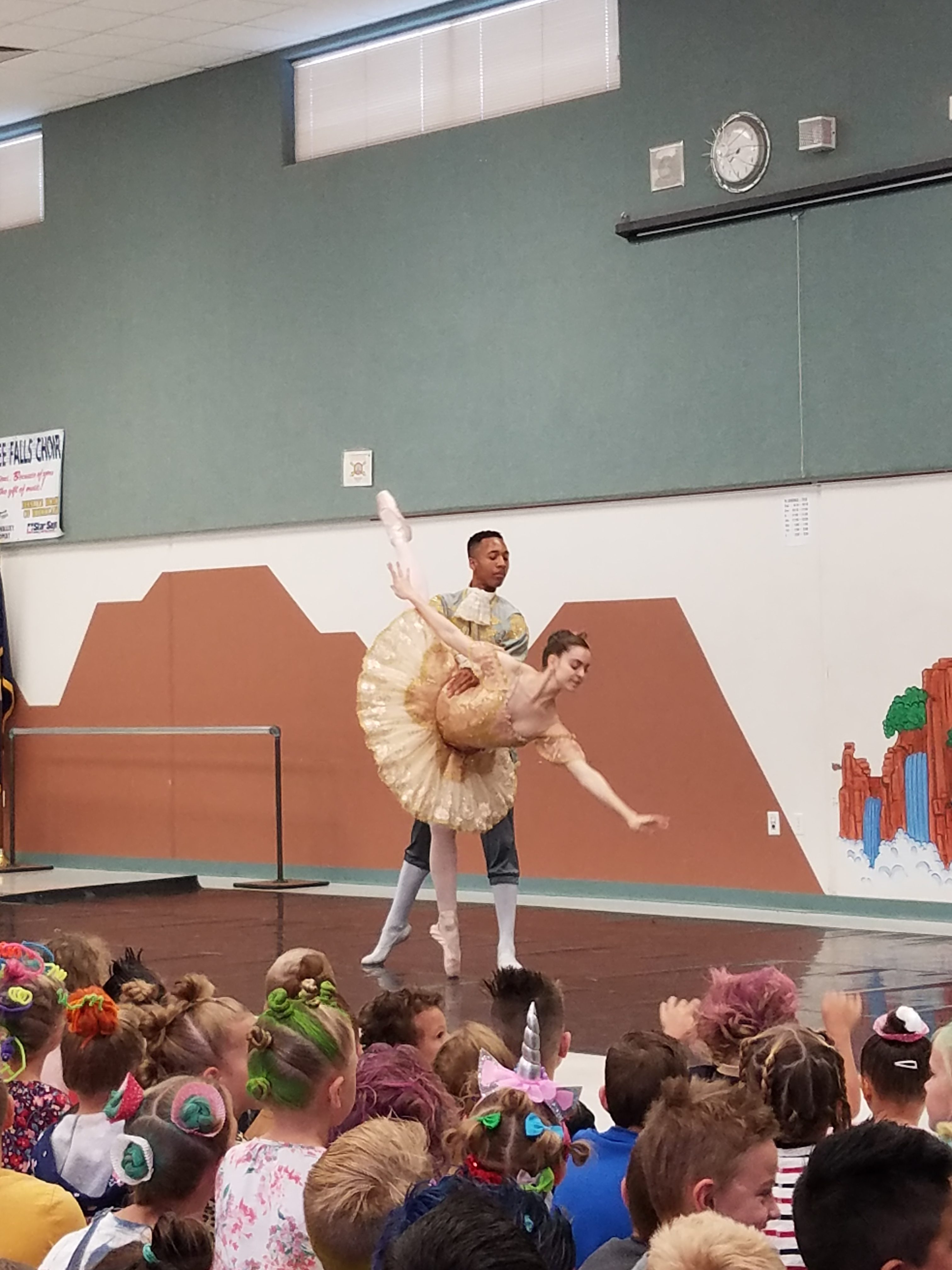 Ballerinas Dance In Assembly