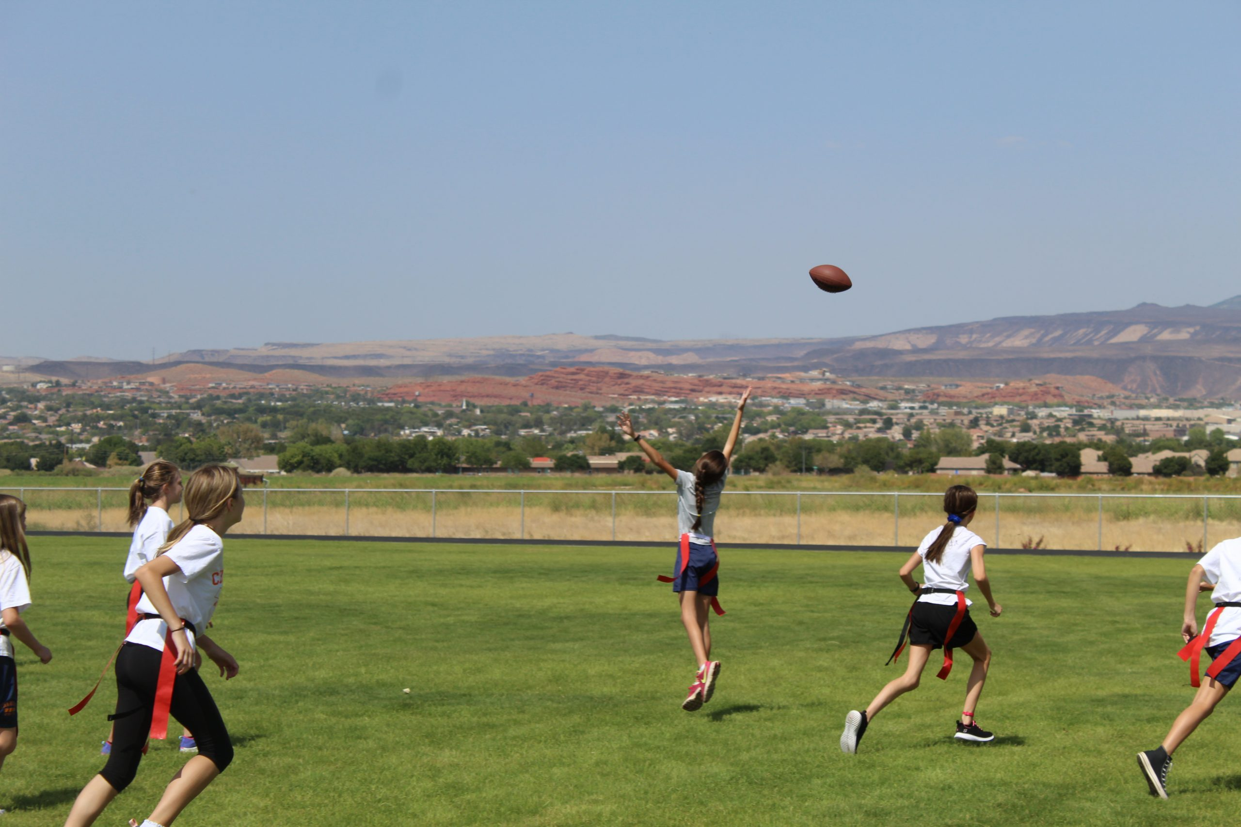 Flag Football in P.E.