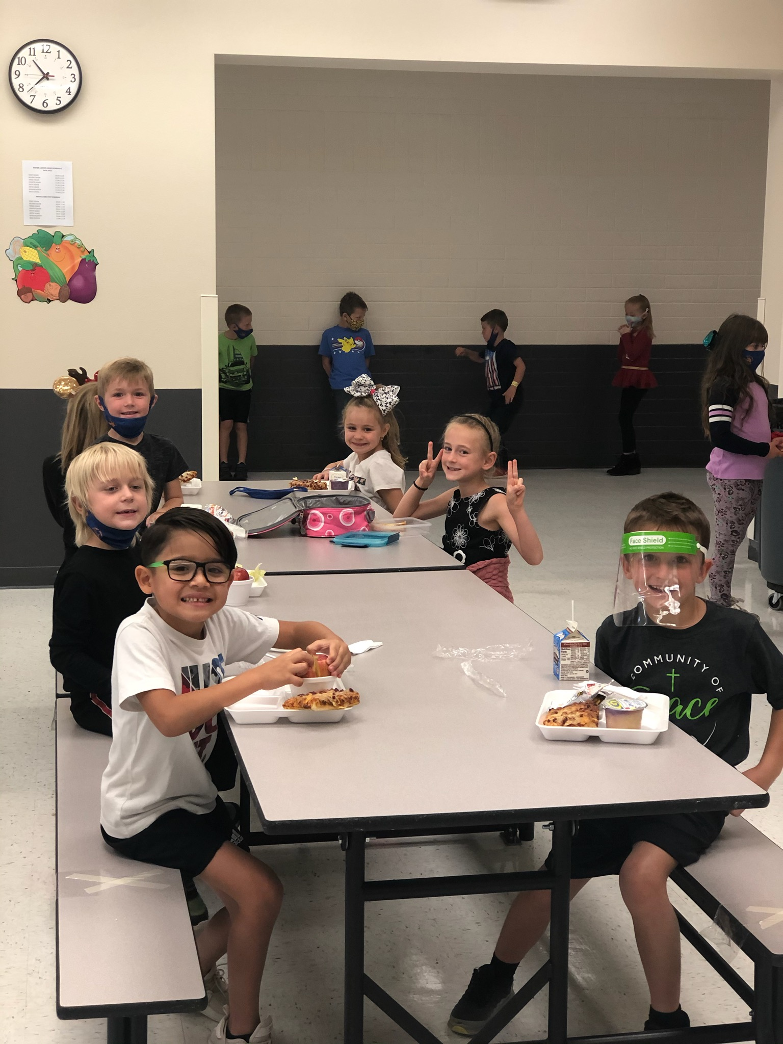 1st Graders At Lunch